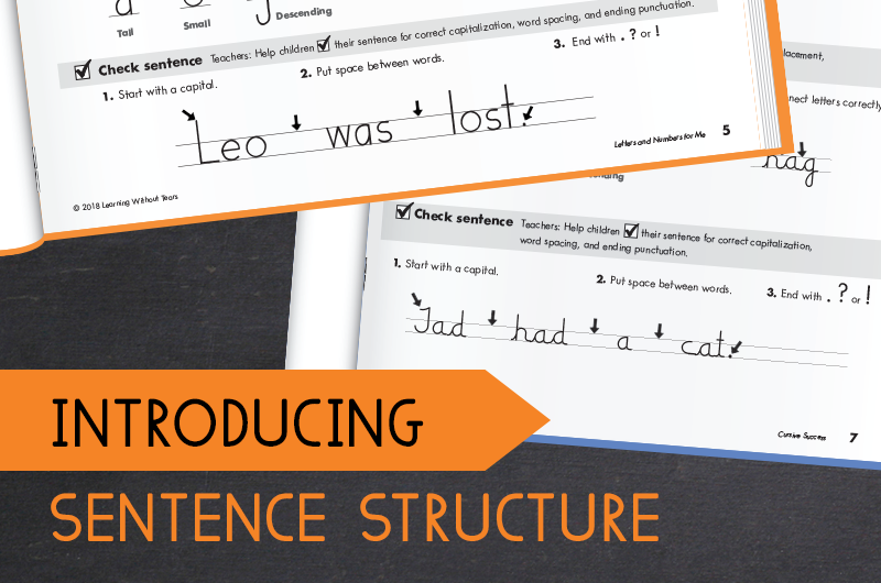 how to teach sentence writing