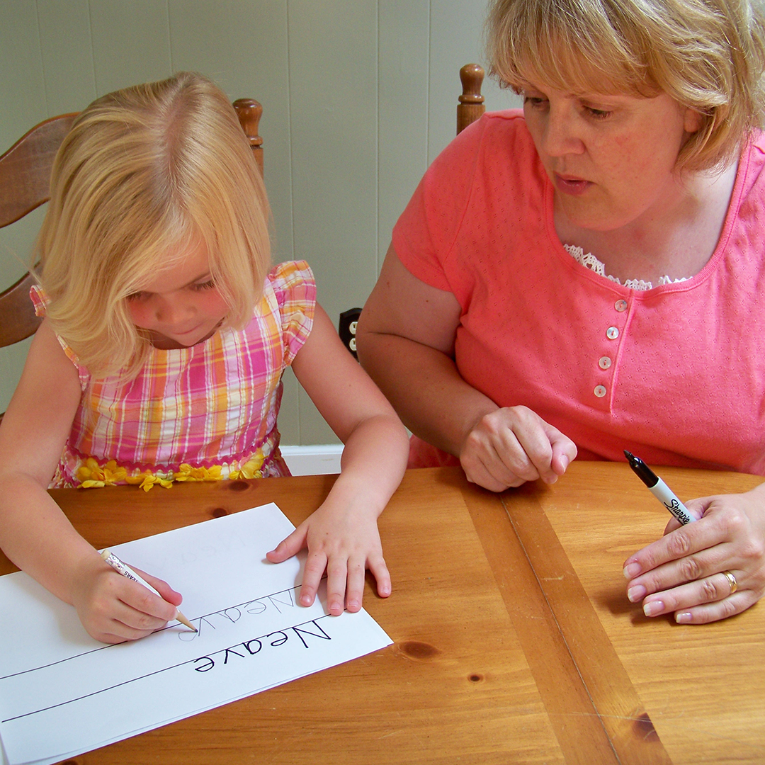 Helping children learn to write their names in upper and title case