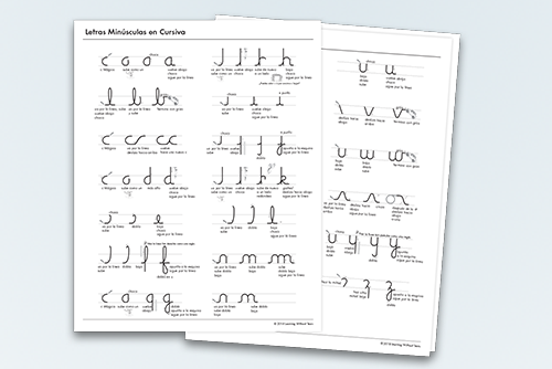 2018 Edition Spanish Cursive Letter Formation Charts