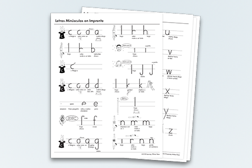 Letter charts