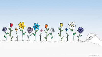 zoom backgrounds drawn flowers