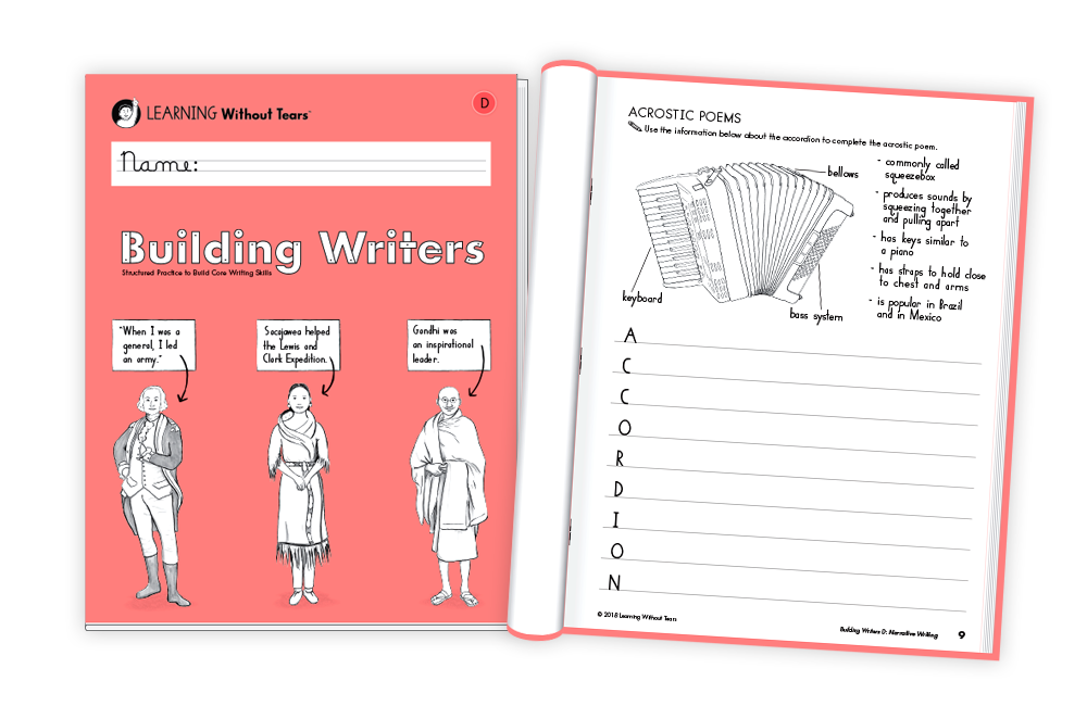 Building Writers Teacher Resources Download Learning Without Tears