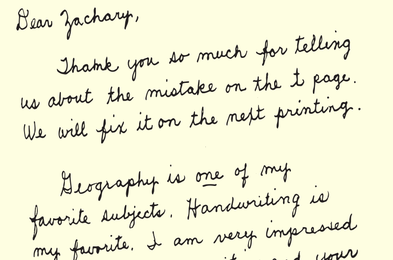 Letter to a Student blog header