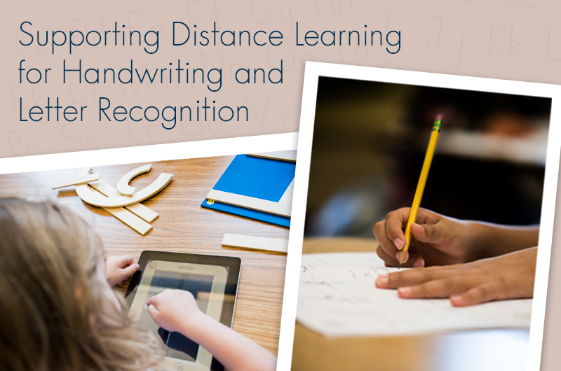 Supporting Handwriting and Letter Recognition at Home