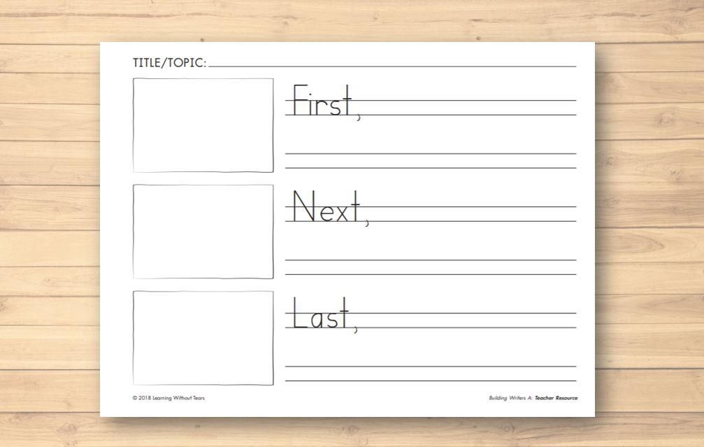 Organize Writing Activities with a Graphic Organizer