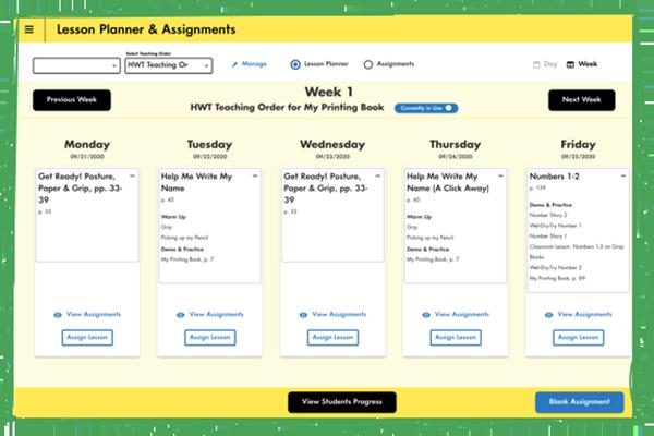 Lesson Planner Screenshot