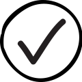 Black Checkmark Icon