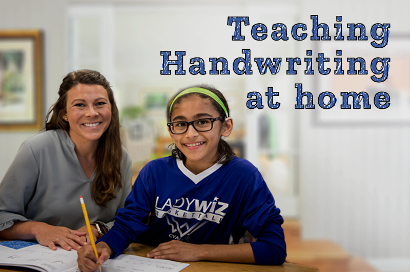 How can you teach handwriting at home?