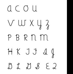 Capital cursive letter teaching order