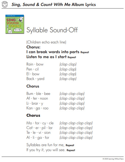 Phonological and Phonics Activity Song Lyrics