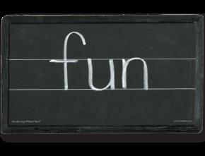 double lines chalkboard